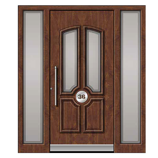Brown Front Door Panel