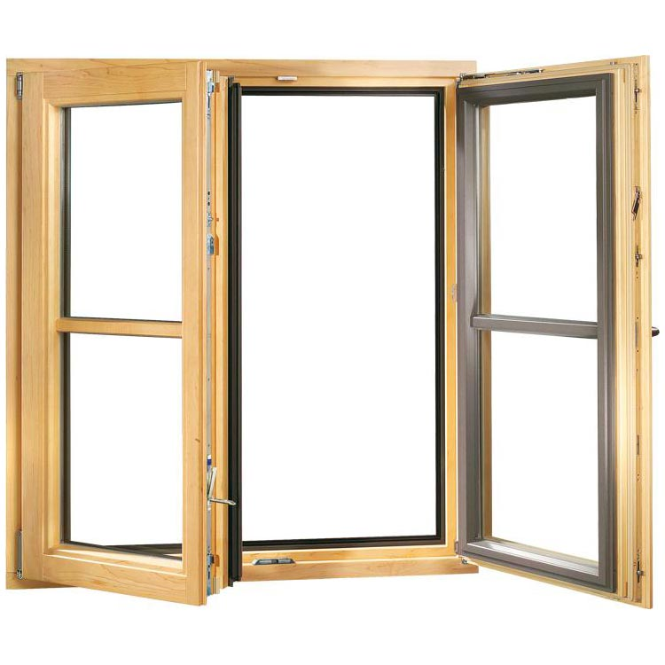 Aluclad Timber Window Opened