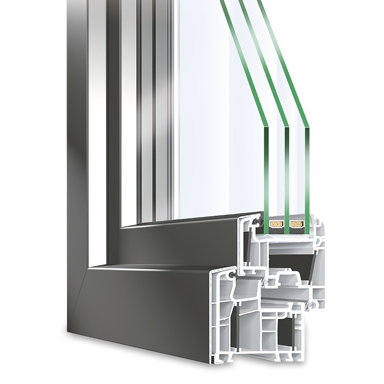 Aluclad uPVC Window Twinset Energeto 5000