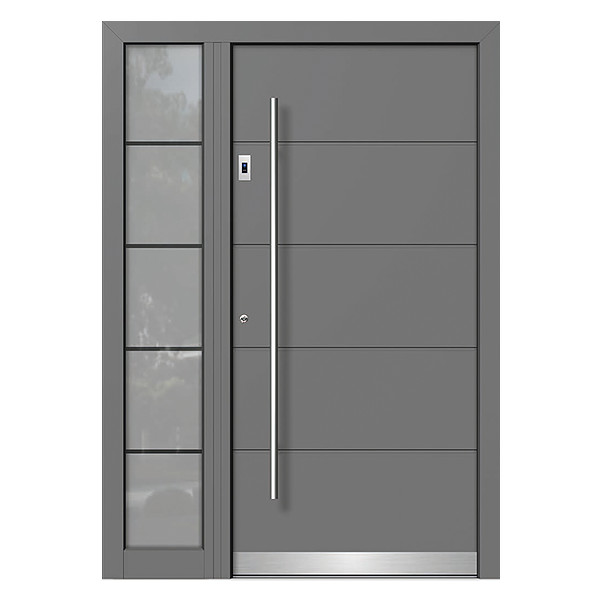 Anthracite Front Door with Fingerprint System