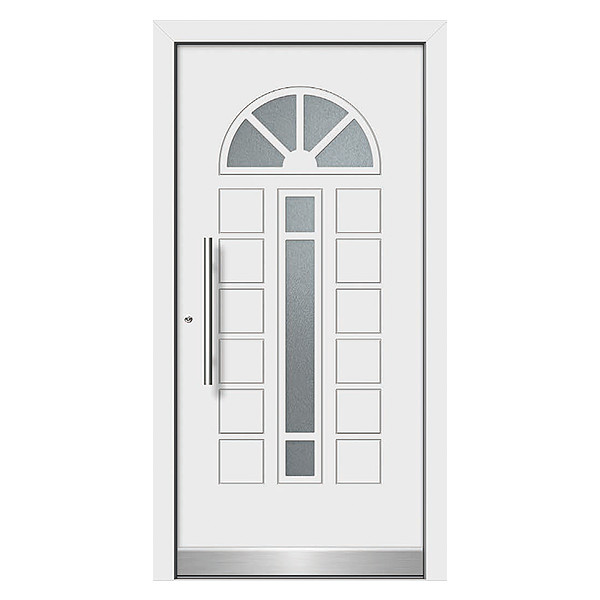 Classical Entry Door with Glass Insert