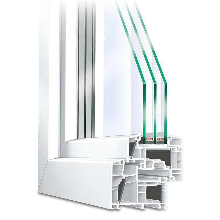 Energeto 8000 Window Profile Cross section